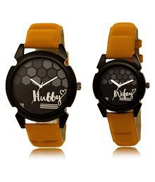 Analogue Round Black Dial Watch - Buy Men Watch Get Women Watch Free
