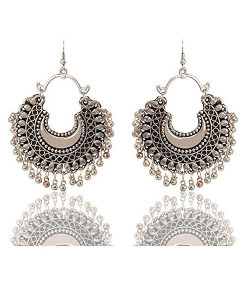 53f1bdc04 DeepCloud Fashion Stylish Oxidised Afghani Tribal Fancy Party Wear Earrings  for Girls and Women: Buy DeepCloud Fashion Stylish Oxidised Afghani Tribal  Fancy ...