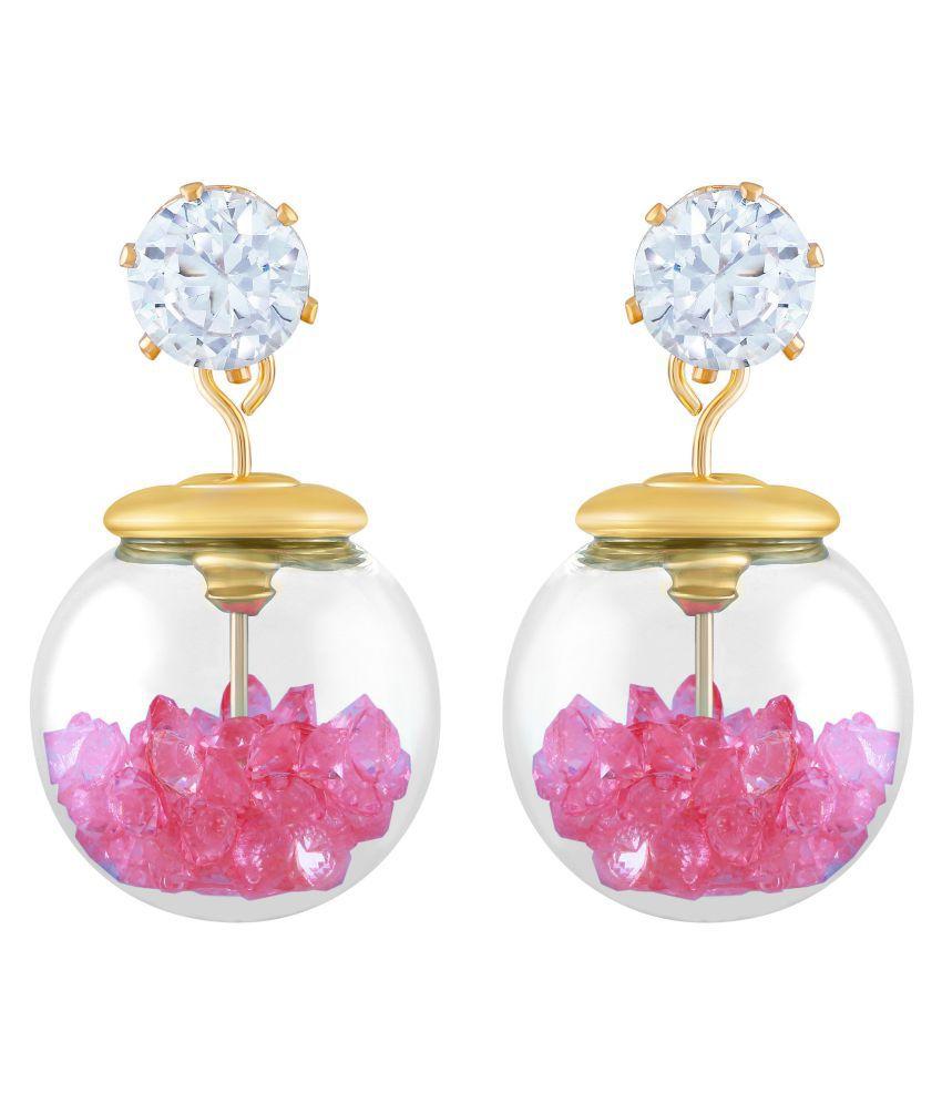 Asmitta Sublime Gold Plated Dangle Earring For Women
