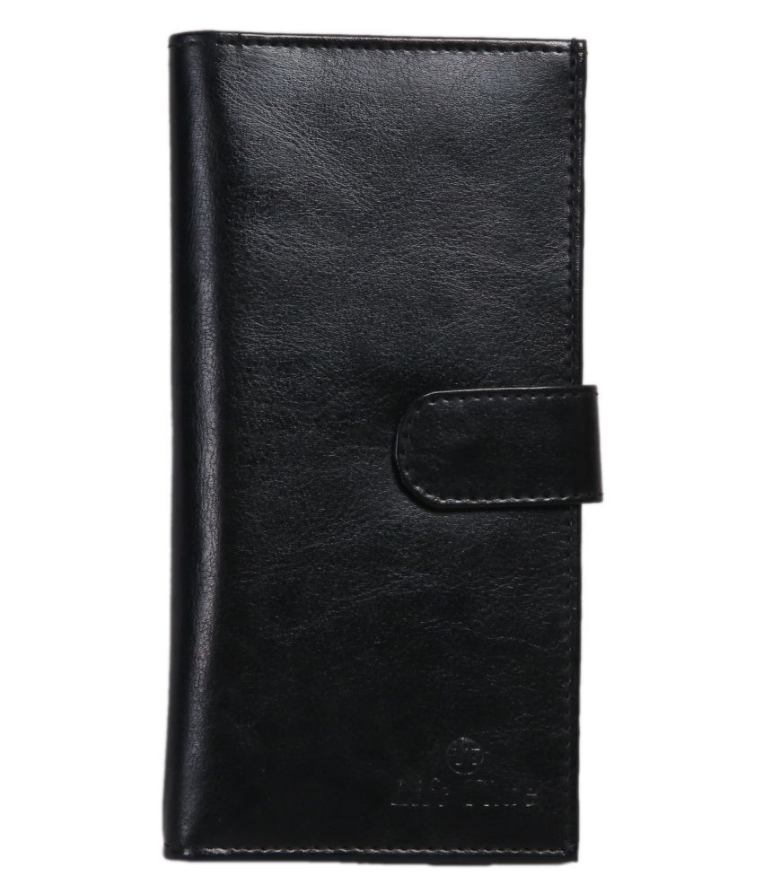 Life Time Black Faux Leather Handheld