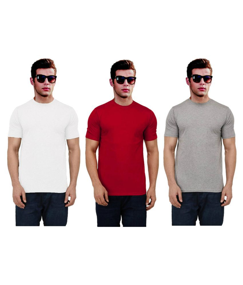 Ritzees Multi Half Sleeve T-Shirt Pack of 3