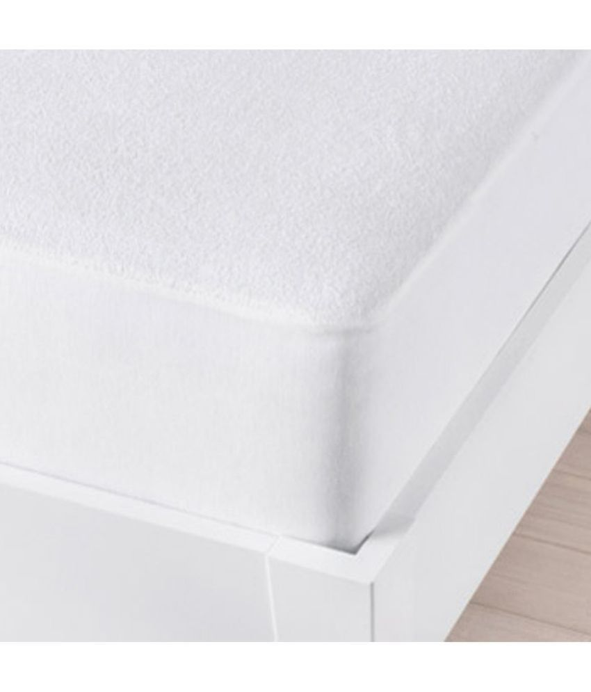 Just Linen Just Linen 150 TC King SizeMattress Protector White Polyester Mattress Protector