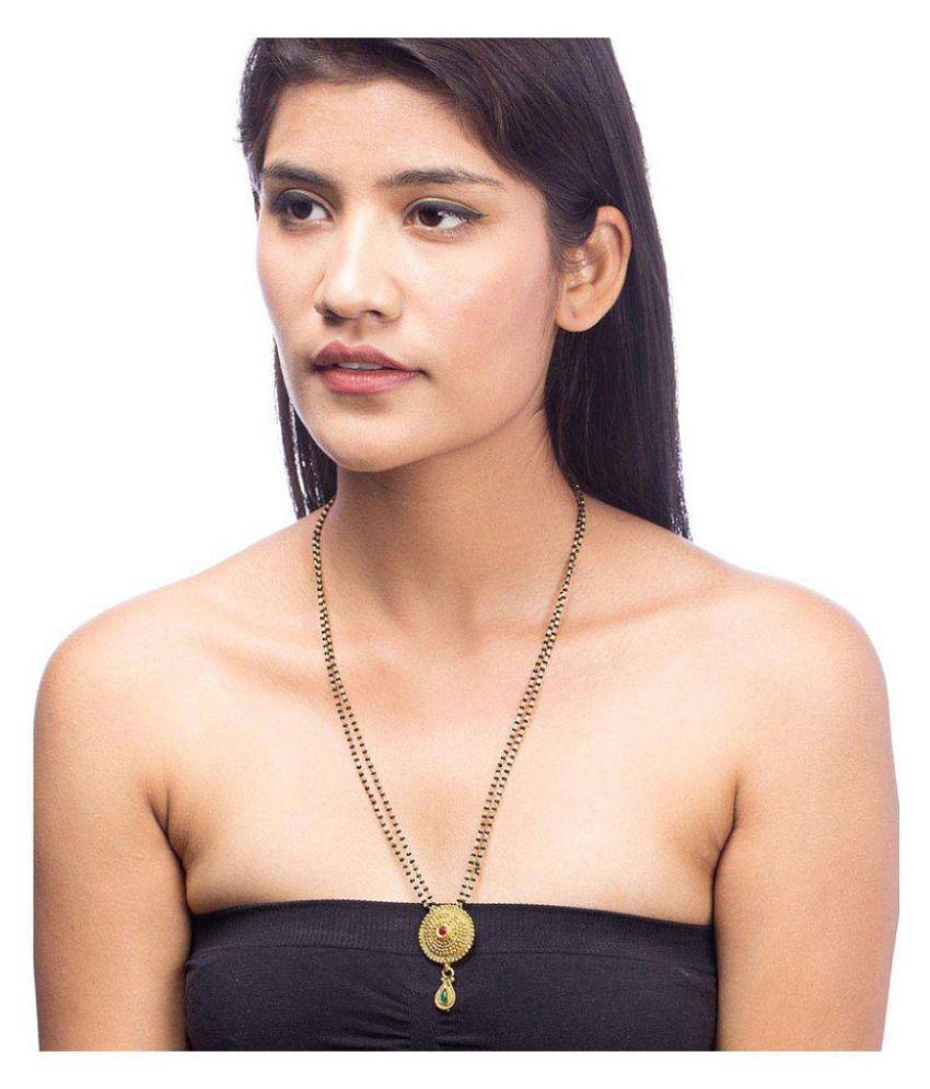 Nia Round Motif Mangalsutra With Kundan Embellishment  Gift for Her, Wife, Women, Party Wear, Daily Wear,Festive Wear,Diwali