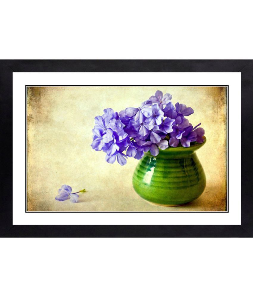 CRAFTSFEST BEAUTIFULL FLOWERS MDF Painting With Frame