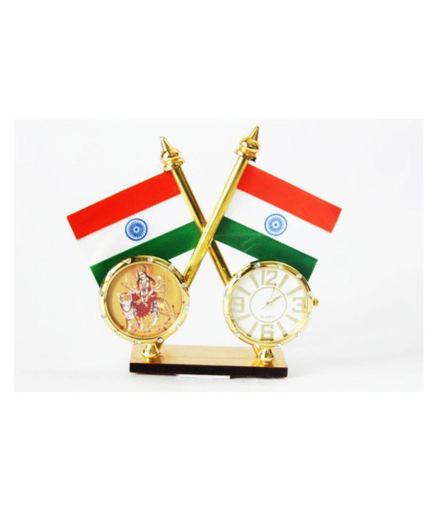 Laps of Luxury Flags with Clock Golden