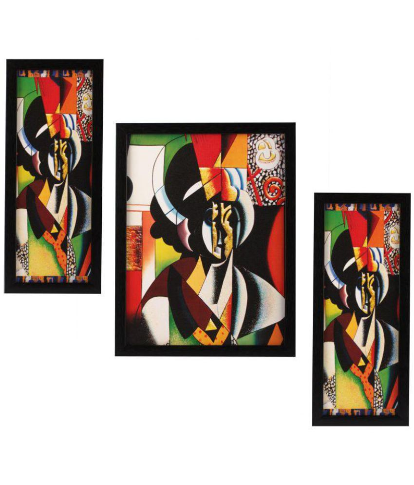 Indianara Abstract MDF Painting With Frame
