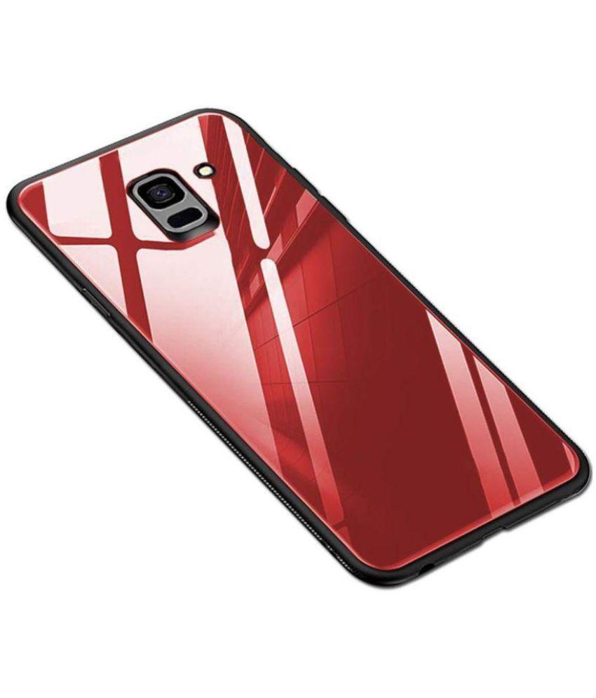 info for 76100 8c1c4 Samsung Galaxy J6 Glass Cover Karwan - Red