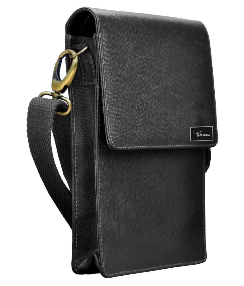Tamanna LSBU5-TM_4 Black Leather Casual Messenger Bag