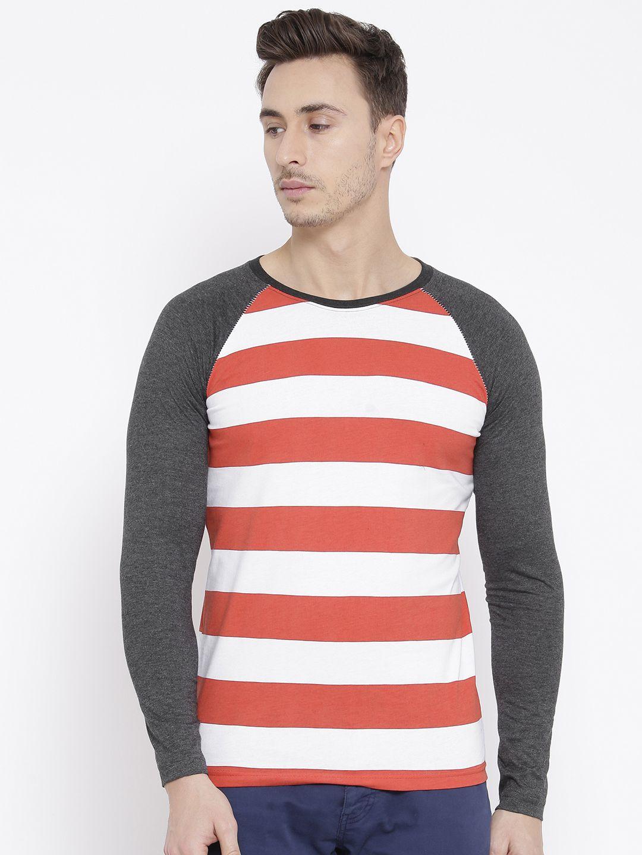 Teesort Red Full Sleeve T-Shirt