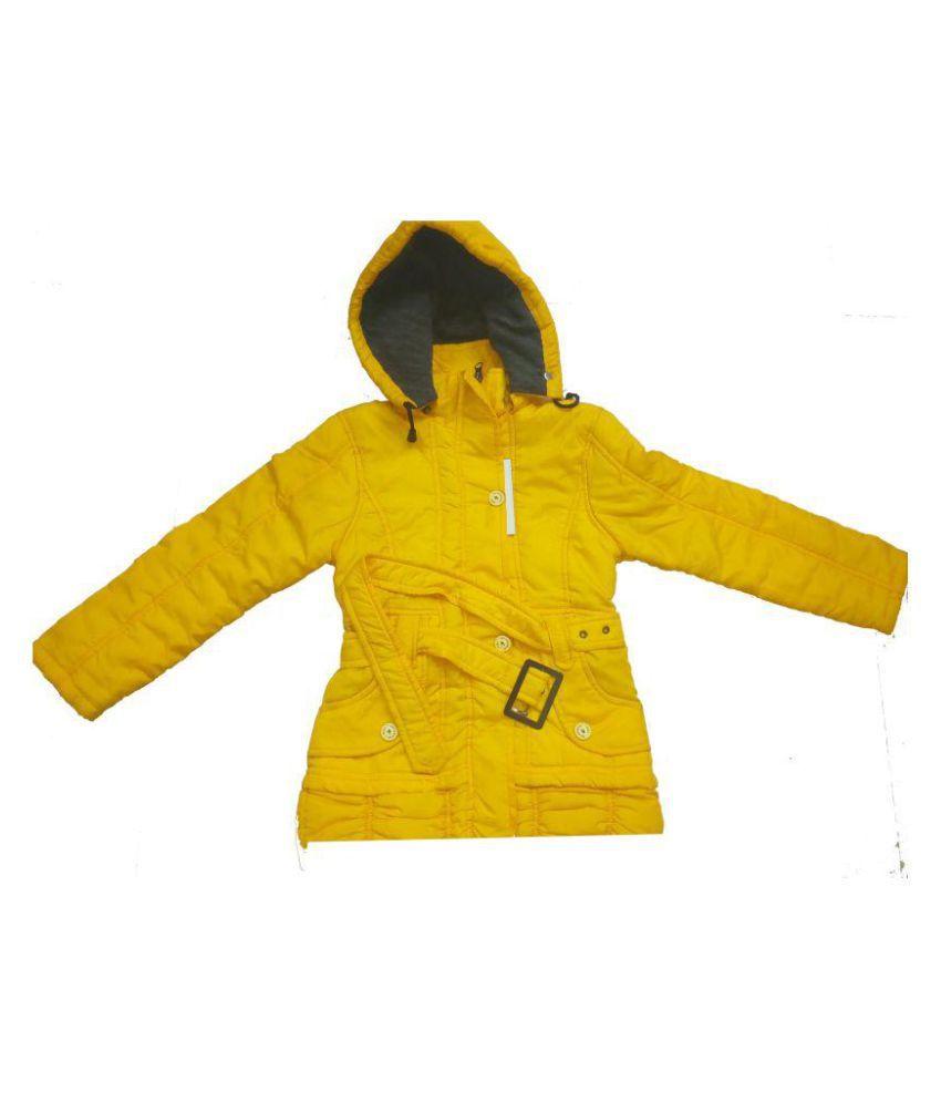 Vastra Vinod Kids Girls Yellow Jacket