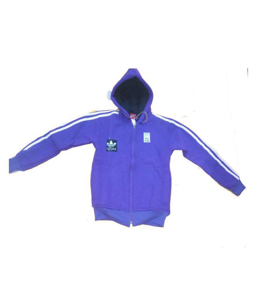 Vastra Vinod Blue Hooded Full Sleeve Sweatshirts For Girls