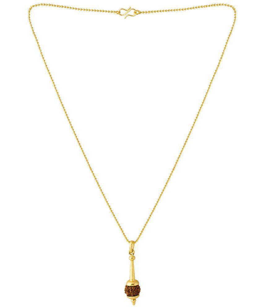 Voylla Hanuman Gada Rudraksha mala Pendant With Bead Chain Gift for Him,  Boy, Men, Father, Brother, Boyfriend, Party Wear, Daily Wear,Festive Wear
