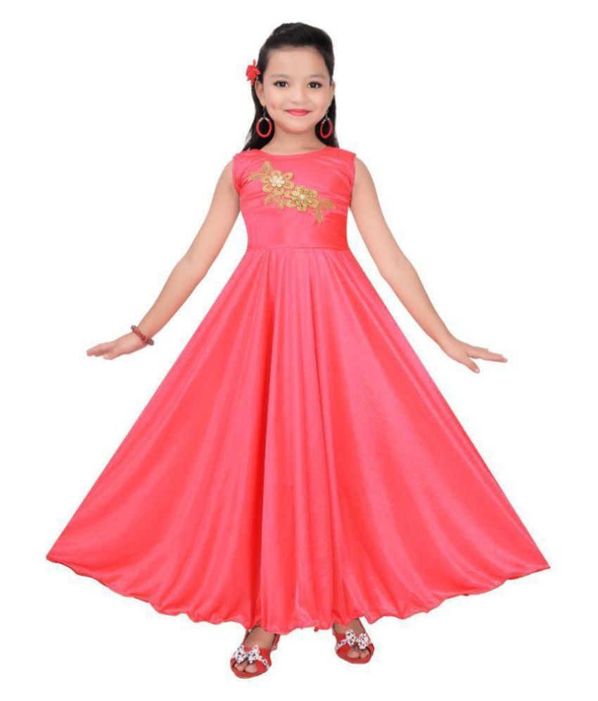 23d258701c Cute Fashion Girl s Party Wear Gown Dress For Girl - Buy Cute Fashion  Girl s Party Wear Gown Dress For Girl Online at Low Price - Snapdeal