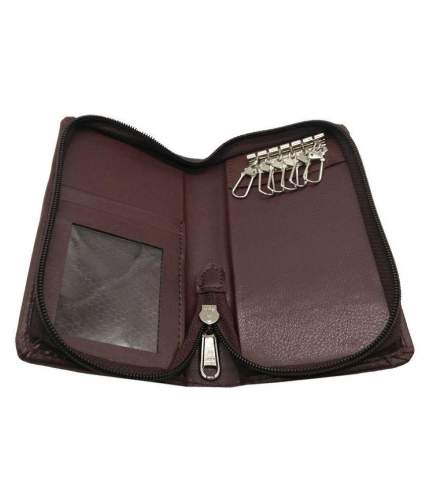 Essart Faux Leather  15.00 cm Long Key Holder Pouch madeup in Faux Leather - 41412 Brown