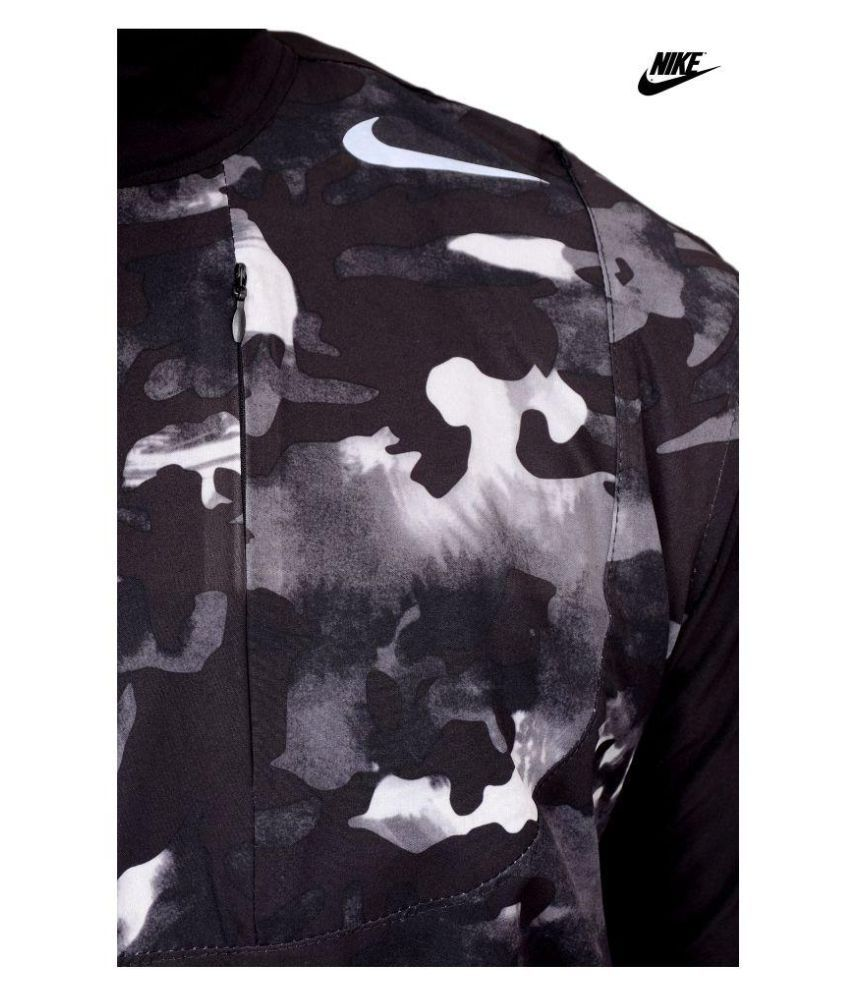 5e4ba777 NIKE PRO Black Polyester Fleece Windcheater - Buy NIKE PRO Black Polyester  Fleece Windcheater Online at Low Price in India - Snapdeal