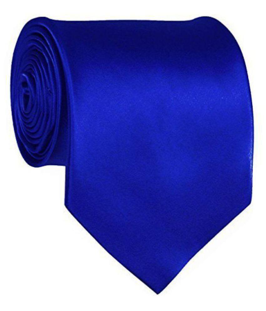 DV Fashion Blue Plain Silk Necktie