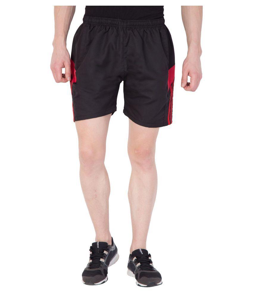 American-Elm Black Shorts