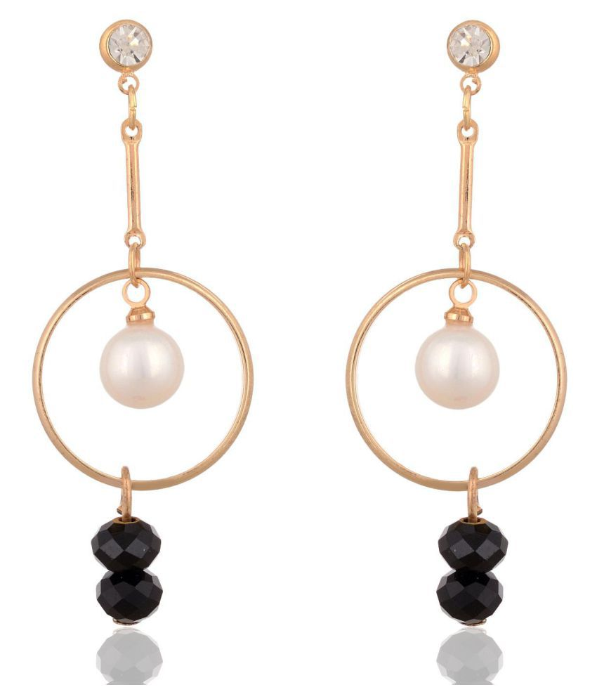 Fab Jewel Fashionable Gold Alloy Fancy Party Wear Earrings for Girls and Women