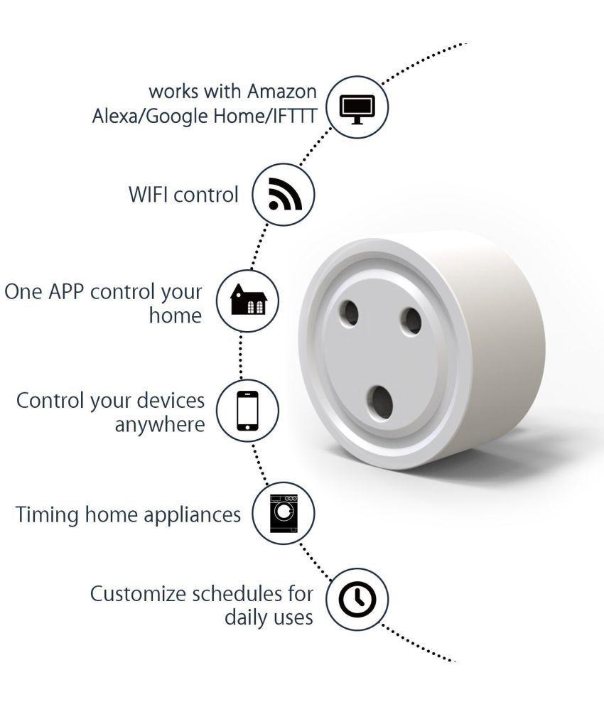 Buy Lumisynch Wi-Fi Smart Plug Socket Switch |10 Ampere