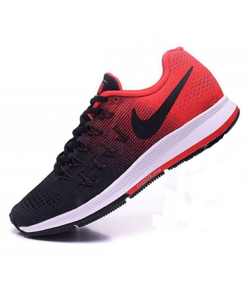 new style 93c0d 35f7f Nike Air zoom 33 pegasus Pegasus 33 Black Red Black Running Shoes - Buy Nike  Air zoom 33 pegasus Pegasus 33 Black Red Black Running Shoes Online at Best  ...