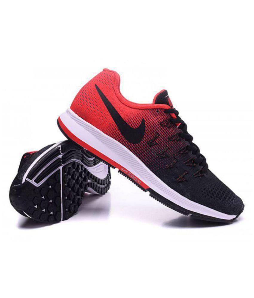 buy popular 6773a 16871 ... Nike Air zoom 33 pegasus Pegasus 33 Black Red Black Running Shoes ...