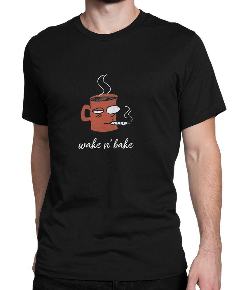iREPRESENT.iN Black Half Sleeve T-Shirt Pack of 1