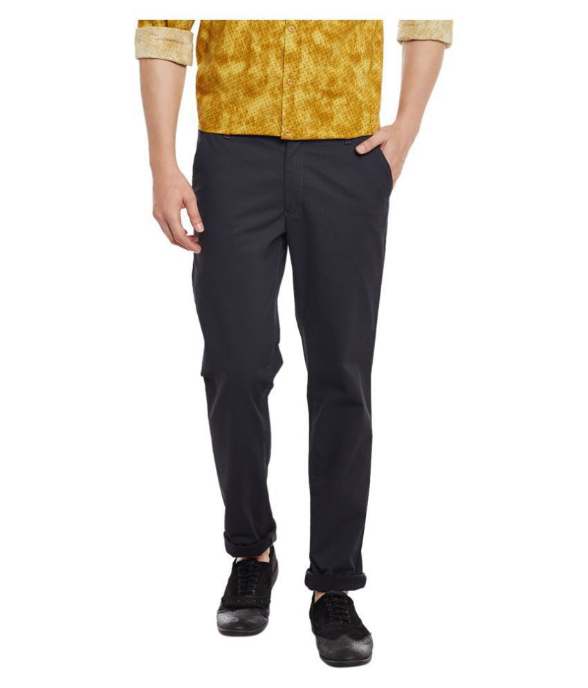 Canary London Black Slim -Fit Flat Chinos