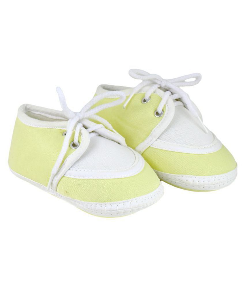 Neska Moda Baby Boys & Girls Lace Yellow Booties For 0 To 12 Months Infants