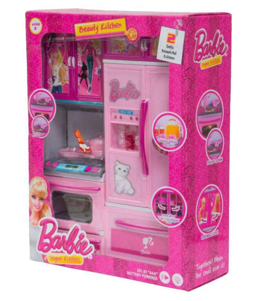 Maruti Enterprise Pink Barbie Modern Kitchen Set Buy Maruti Enterprise Pink Barbie Modern Kitchen Set Online At Low Price Snapdeal