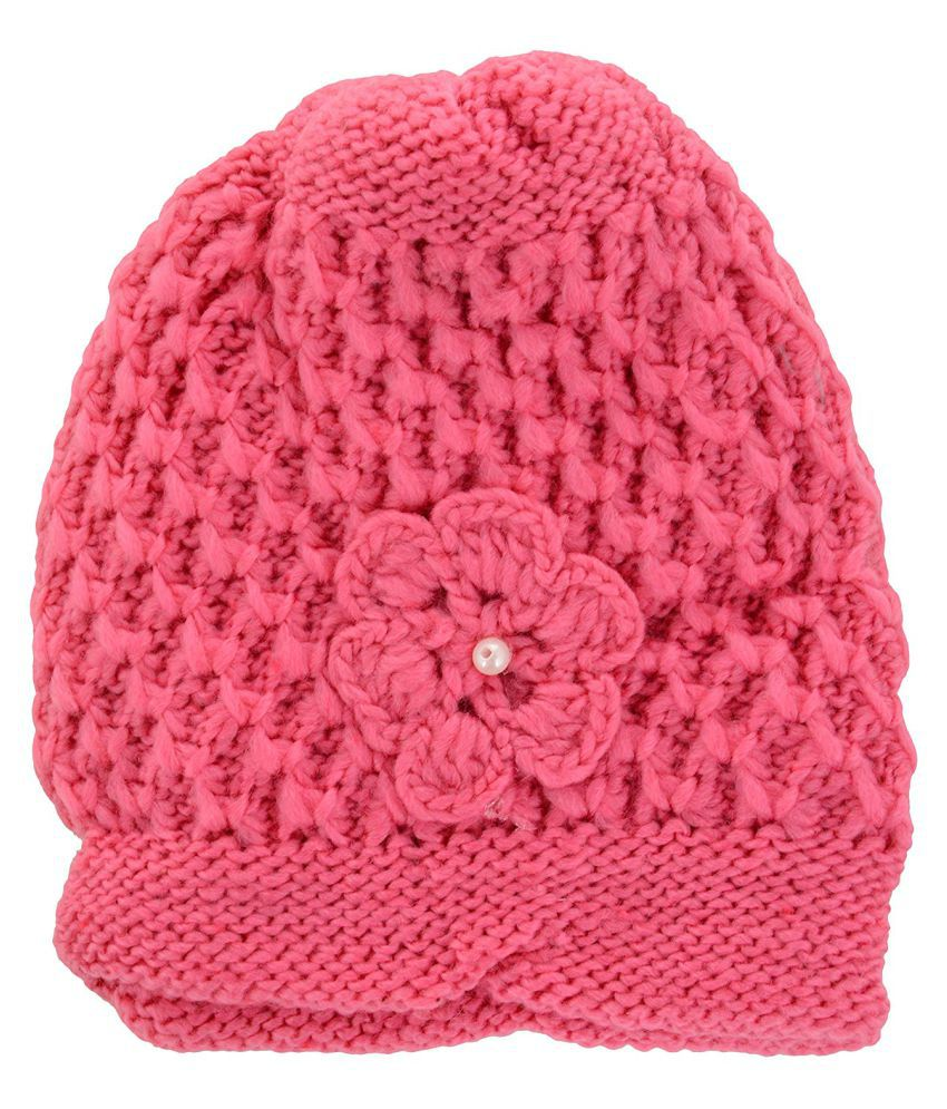 89e1bdcf Zacharias Pink Woolen Skull Cap for Women: Buy Online at Low Price in India  - Snapdeal