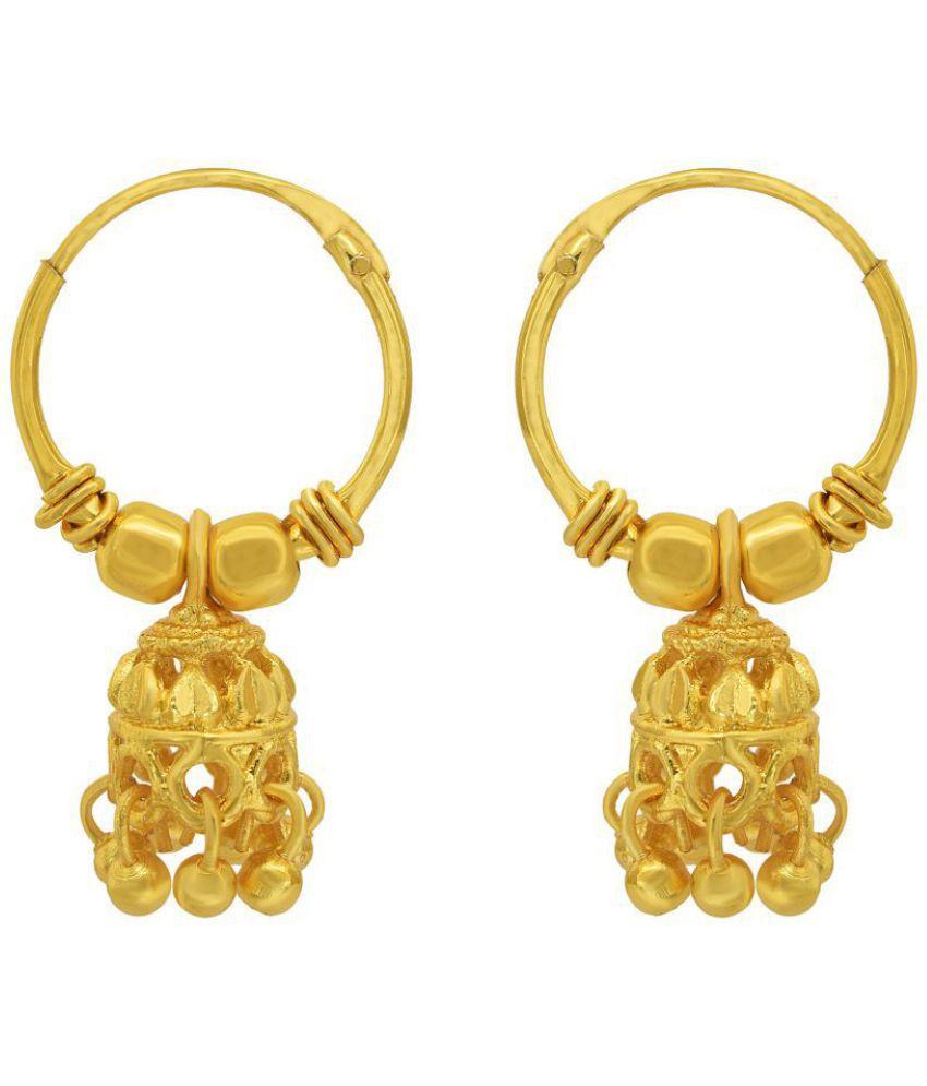 Dzine Trendz 24kt Gold Covered Super Small Size Jhumki Bali Hoop