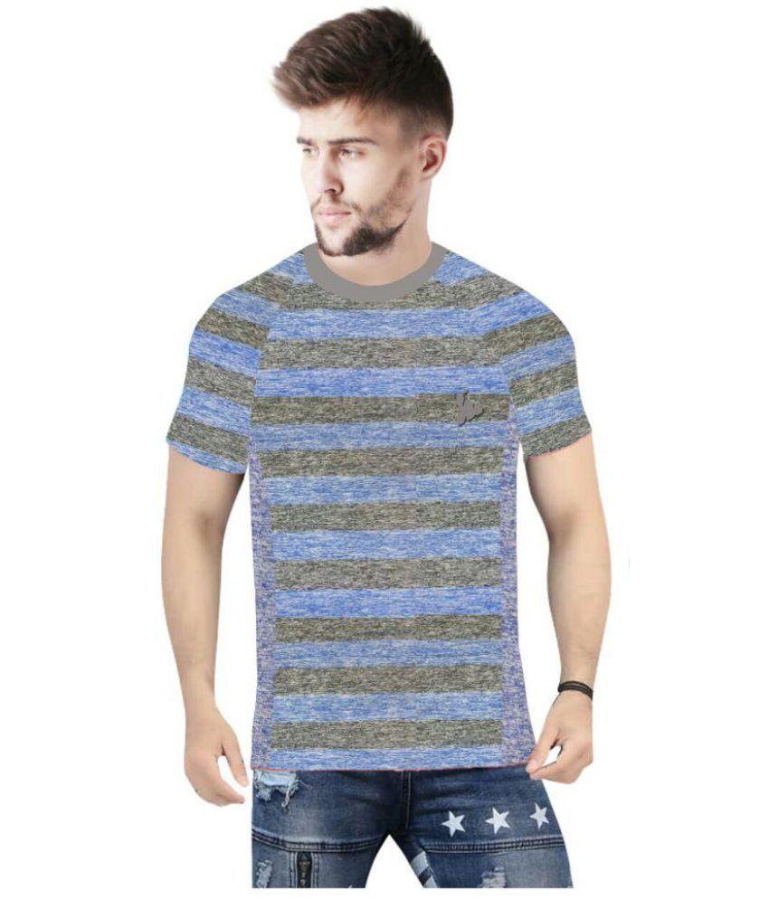 TEES SPORTS Navy Half Sleeve T-Shirt Pack of 1