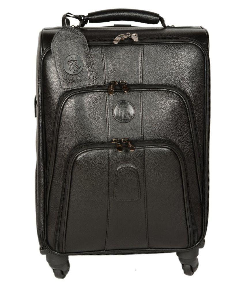 ROYAL LEATHER EMPORIUM Black Printed Duffle Bag