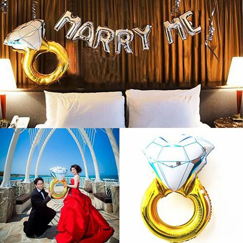 33 inch Funny Large Ring Foil Balloon Party Wedding Decoration Photo Prop Toy