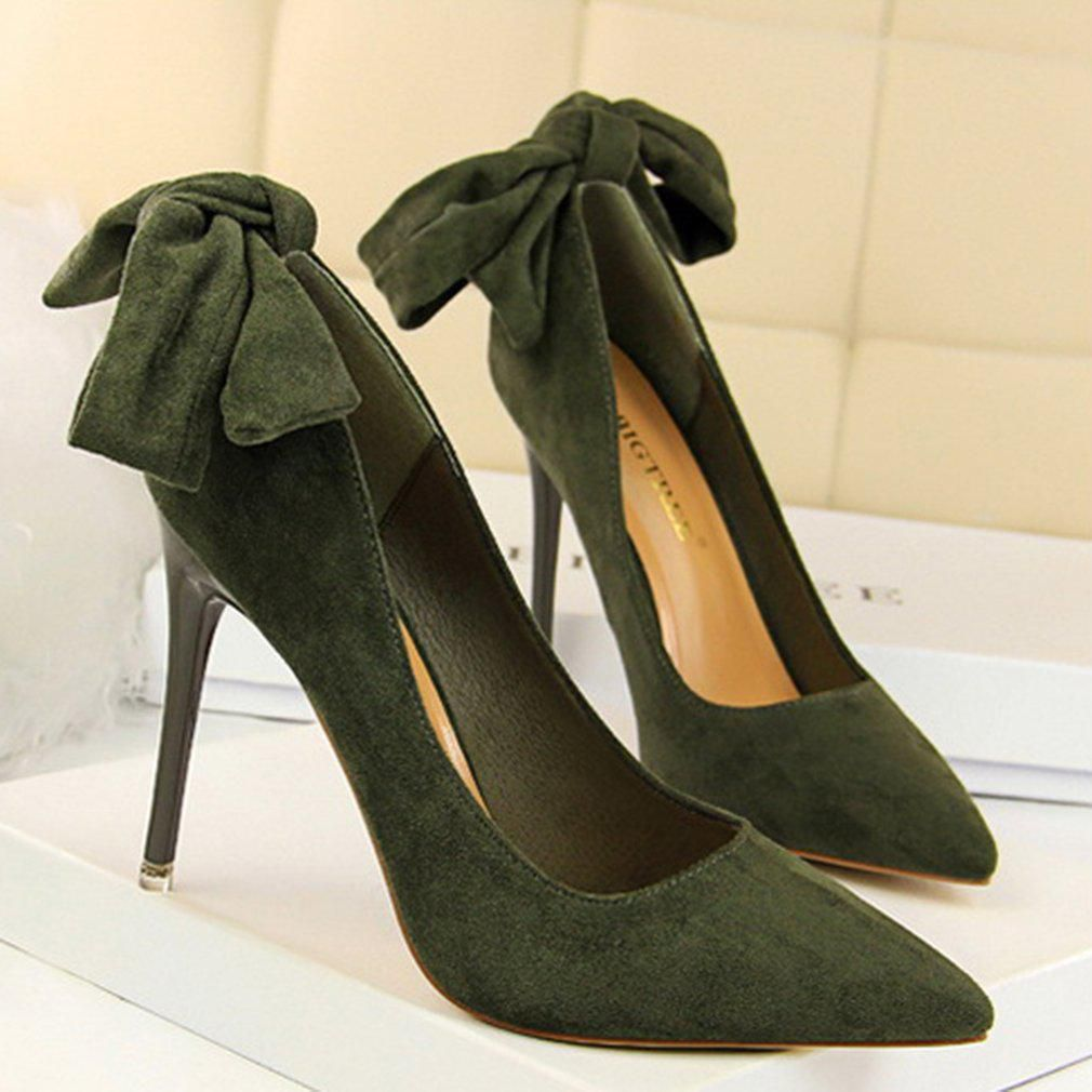Generic Green Block Heels