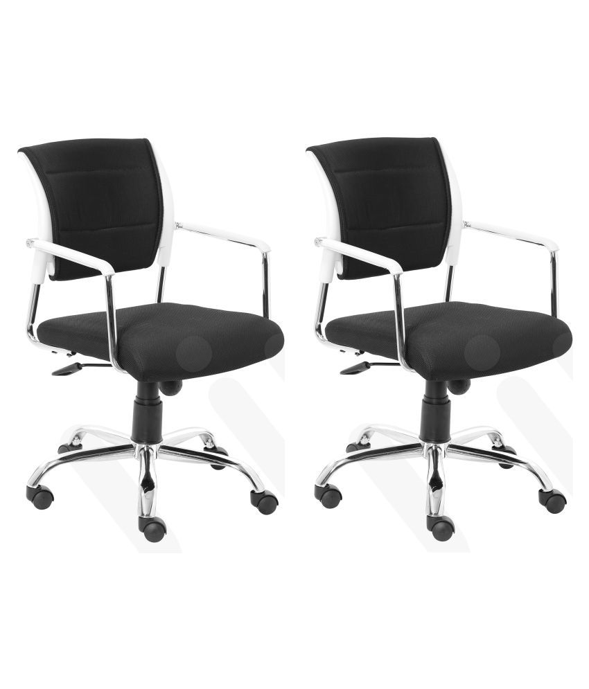 VJ INTERIOR REVOLVING OFFICE VISITIOR CHAIR SET OF 2