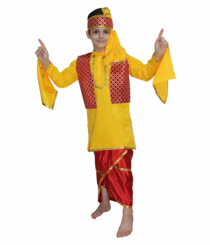 1b49d1d62 Kaku Fancy Dresses Bhangra fancy dress for kids,Indian State Traditional  Wear Costume for Annual ...