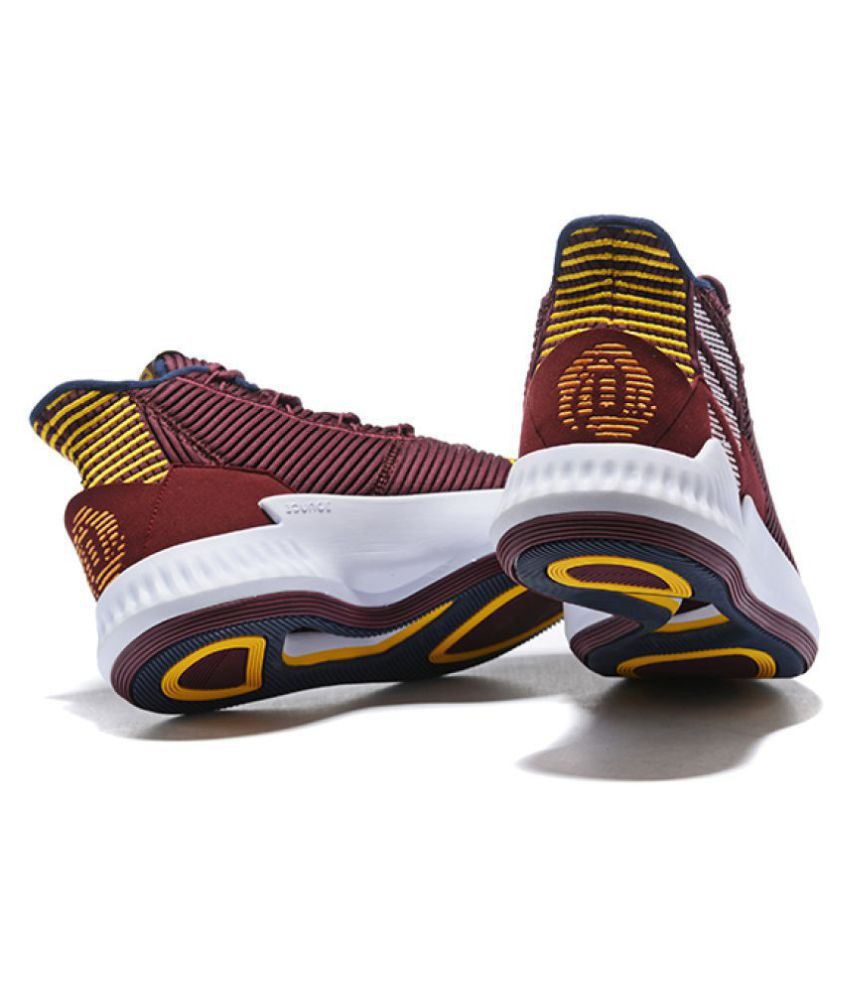 Adidas D ROSE 9 2018 LTD Maroon Basketball Shoes