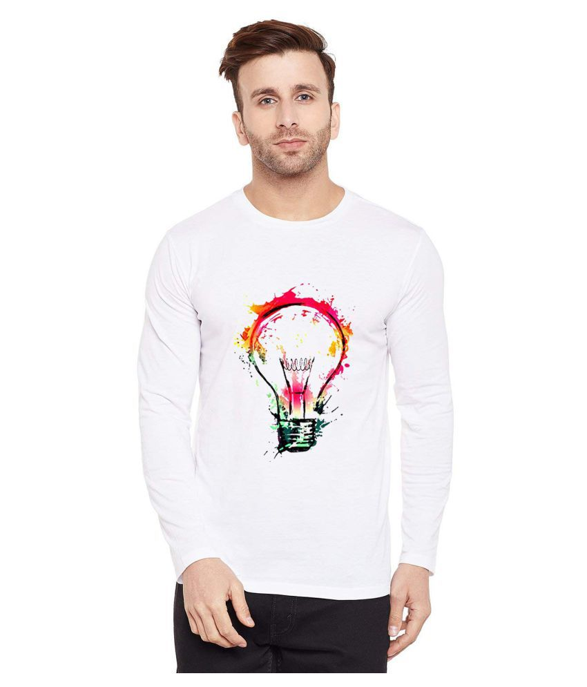 British Terminal White Full Sleeve T-Shirt Pack of 1