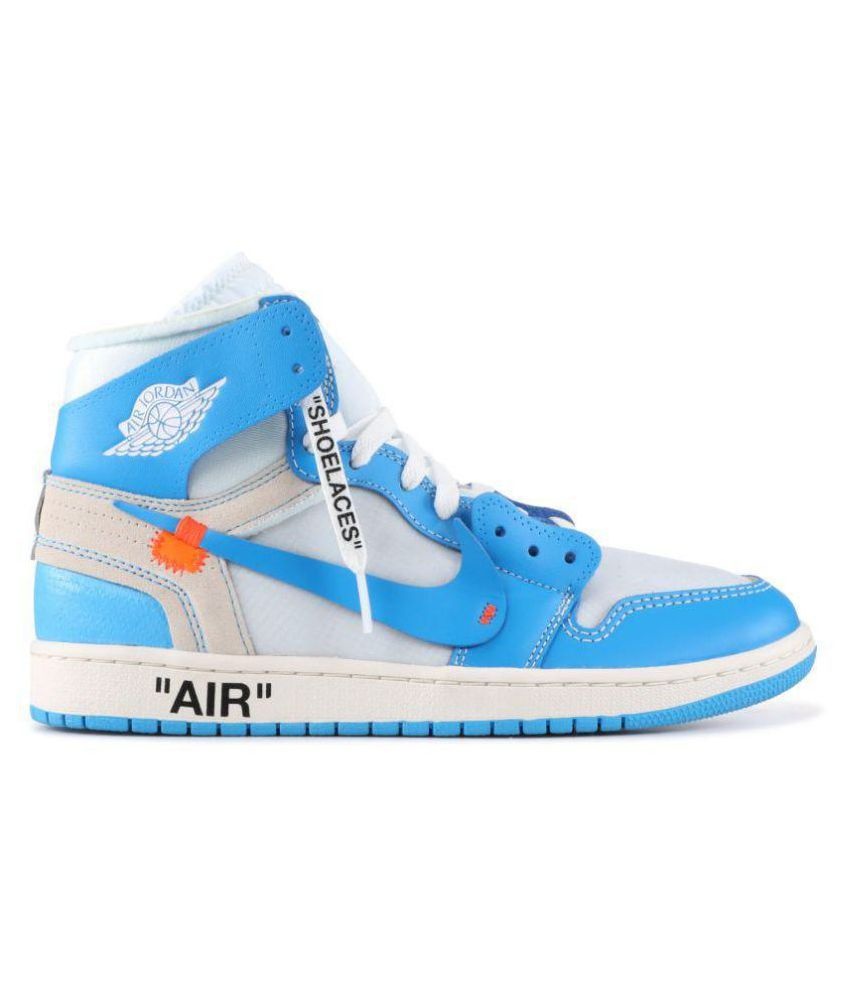 e82800db491145 Nike NIKE JODAN 1 RETRO OFF-WHITE Blue Basketball Shoes - Buy Nike NIKE  JODAN 1 RETRO OFF-WHITE Blue Basketball Shoes Online at Best Prices in  India on ...