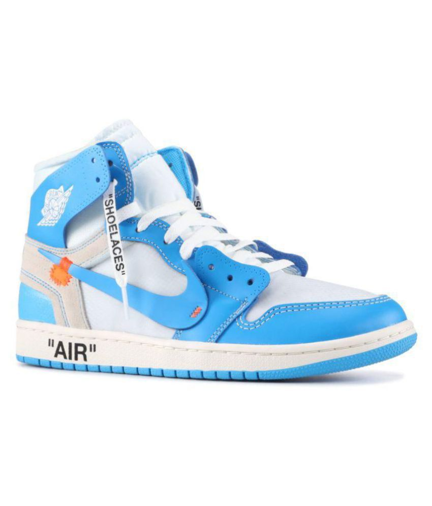 090b804e89337c Nike NIKE JODAN 1 RETRO OFF-WHITE Blue Basketball Shoes - Buy Nike ...