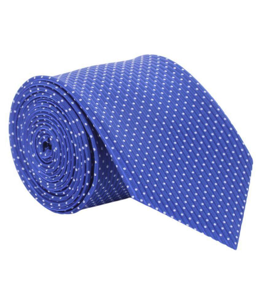 Alvaro Castagnino Blue Printed Micro Fiber Necktie