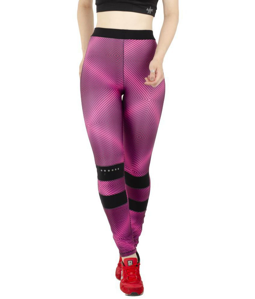 aarmy fit Cotton Lycra Trackpants - Purple