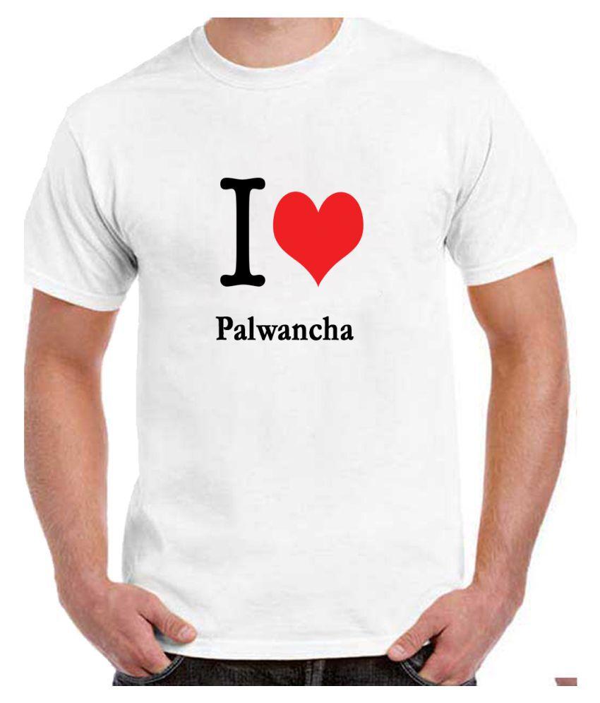 Ritzees Unisex Half Sleeve White Cotton T-Shirt Cotton T-Shirt Palwancha City for Men, Women, Kids(White, 34)