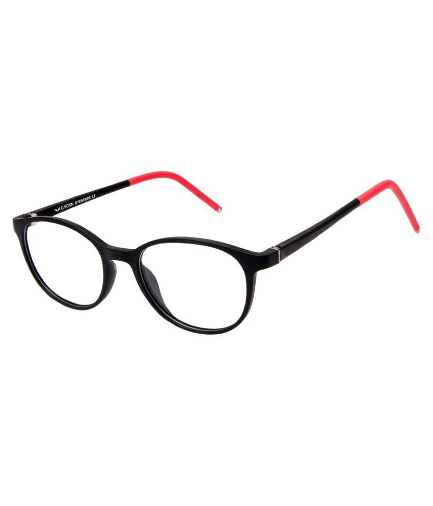 Cardon Matte Black Round Full Rim EyeGlass