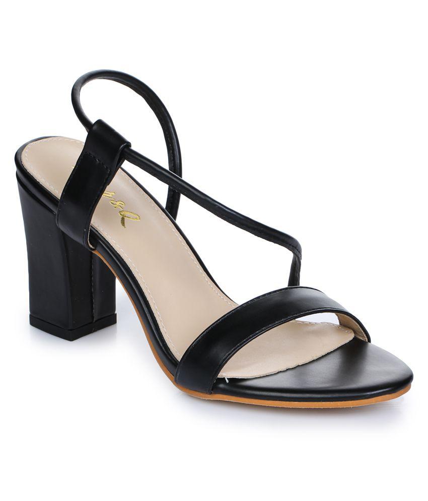 Aber & Q Black Block Heels