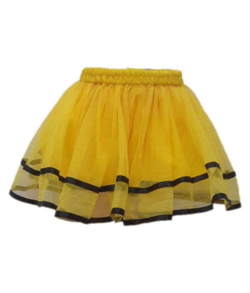 KAKU FANCY DRESSES Skirt Yellow Color fancy dress for kids,Western Costume for Annual function/Theme Party/Competition/Stage Shows/Birthday Party Dress