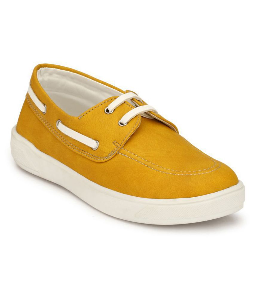 Hirels Yellow Kids Casual Shoe