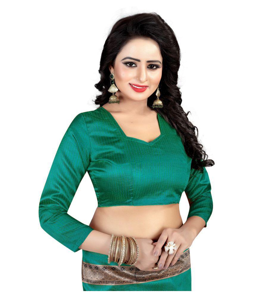 Tithi Kumari Green Art Silk Saree