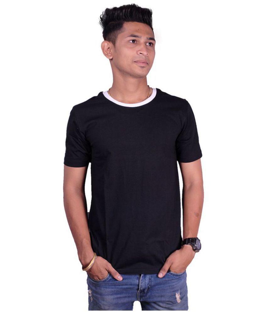 ColorOctopus Black Half Sleeve T-Shirt Pack of 1